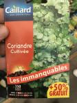 CORIANDRE CULTIVEE + 50%
