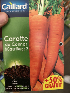 CAROTTE DE COLMAR A COEUR ROUG
