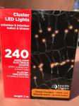 GUIRLANDE EN GRAPPE BLANC CHAUD 3M - 240 LEDS