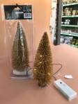 SAPIN LUMINEUX OR 10 LEDS H.22CM