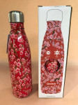 BOUTEILLE ISOTHERME INOX 500ML ROUGE FLEURS
