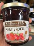 CONFITURE 4 FRUITS ROUGES AU MIEL 375GR