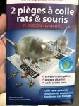 2 PIEGES A COLLE POUR RATS ET SOURI