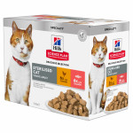 12X85G FELINE STERIL POISSON POULET HILL'S