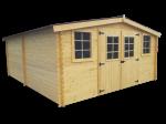 Abri Madriers bois massif 4 m / 28 mm / 20,97 m²
