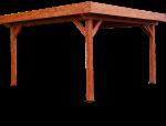 Auvent OMBRA toit plat couverture bac acier /  3,54 x 3,54 m