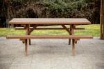 Table forestière fabriquée en bois massif traité très haute température / 6 personnes épaisseur 40 mm / 1,90x1,62 m
