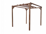 Pergola fabriquée en bois massif traité très haute température / 3,00x2,96 m