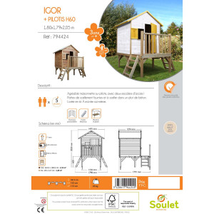 Cabane en bois pour enfant ILOA